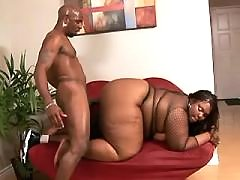 Black BBW taking good pussy massage
