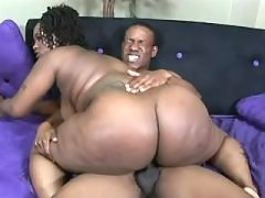 Splendid black fatty takes up cock
